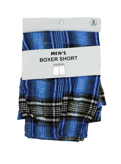 Mens Flannel Boxer Shorts -Closeout