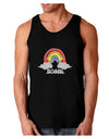 RAINBROS Dark  Dark Loose Tank Top - Black - 3XL Tooloud
