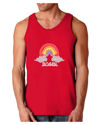 RAINBROS Dark  Dark Loose Tank Top - Red - 2XL Tooloud