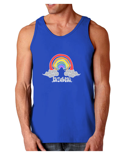 RAINBROS Dark  Dark Loose Tank Top - Royal Blue - 2XL Tooloud