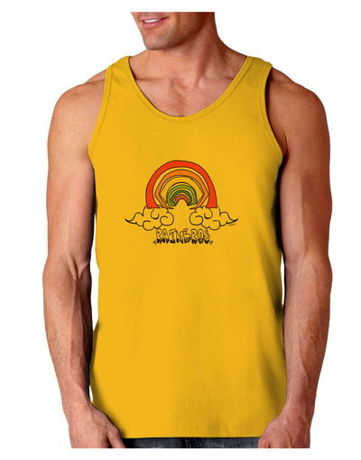 RAINBROS  Loose Tank Top - Gold - 2XL Tooloud