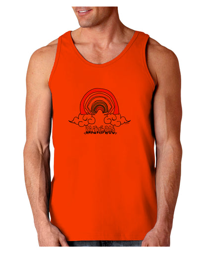 RAINBROS  Loose Tank Top - Orange - 2XL Tooloud