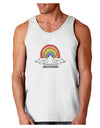 RAINBROS  Loose Tank Top - White - 2XL Tooloud