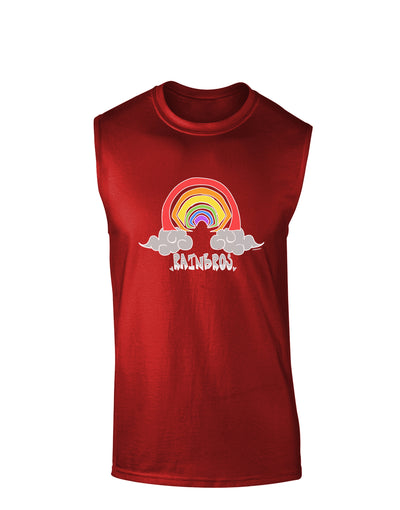 RAINBROS Dark  Dark Muscle Shirt - Red - 2XL Tooloud