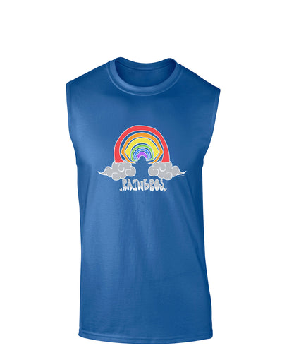 RAINBROS Dark  Dark Muscle Shirt - Royal Blue - 2XL Tooloud