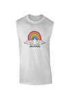RAINBROS  Muscle Shirt - White - 2XL Tooloud