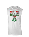 Kiss Me Under the Mistletoe Christmas Mens Muscle Shirt