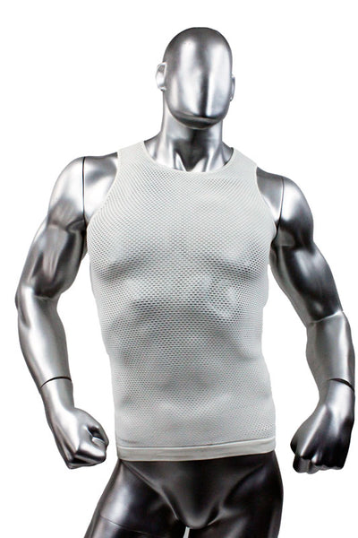 Jocko Mesh Mens Tank Top - Bobby's - White -  Closeout