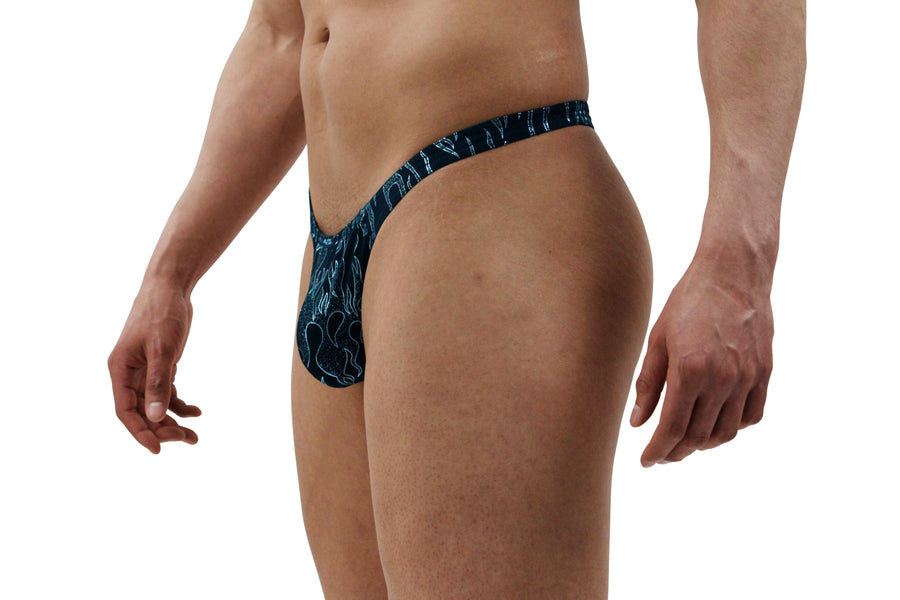 Black Flame Mens Thong