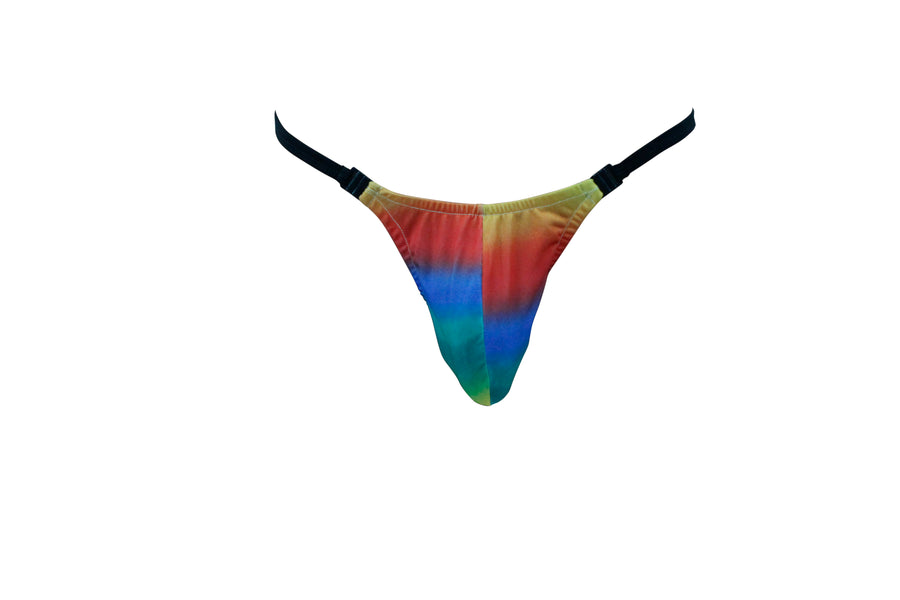 Rainbow Rising Mens Thong With Clip