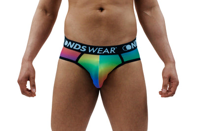 Sheer Rainbow Rising  Mens Jock String Thong