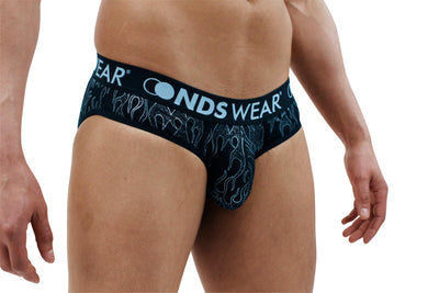 Black Flame Mens Brief