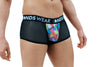 Sheer Black Mens Boxer Brief with Diamond Pattern
