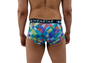 Modern Diamond Pattern Mens Boxer Brief