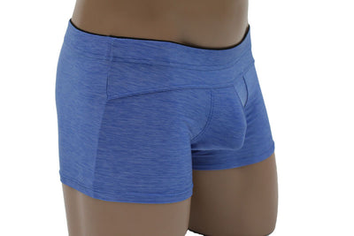 Male Powers Panel Short Micro Heather Boxer Brief for Men - Closeout