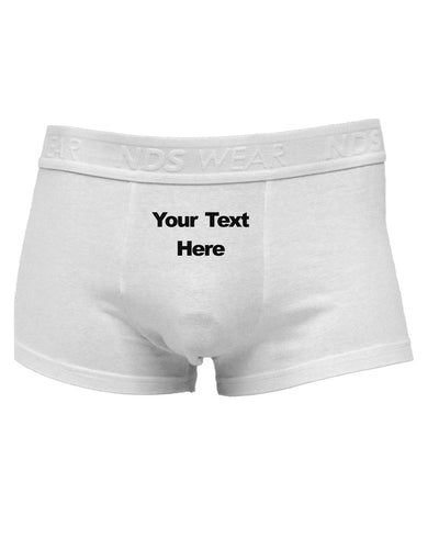Custom Personalized Front and Back Text and Image Men's Trunk Underwear