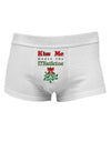 Kiss Me Under the Mistletoe Christmas Mens Cotton Trunk Underwear