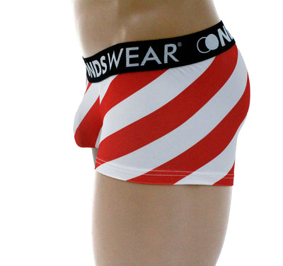 Santa Candy Cane Stripe Boxer Brief By NDSwear®