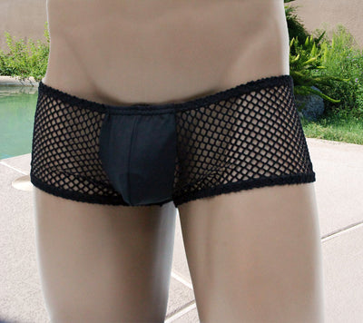 Mens Sexy Fishnet Boxer Brief