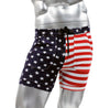 USA Flag Mens Sexy Swim Trunk Surf Short by NEPTIO®