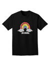 RAINBROS Dark  Adult Dark T-Shirt - Black - 4XL Tooloud