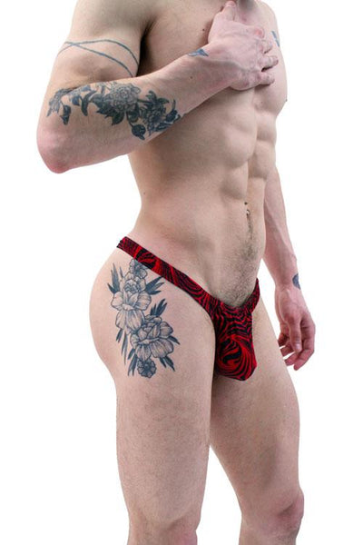 Red Black Cappuccino Sexy Men's Thong Underwear