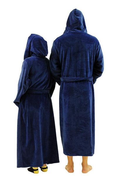 NDS Wear Plush Fleece Hooded Robe for Men or Women