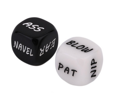 Sexy Romance Love Humor Gambling Adult Games Erotic Craps Pipe Sex Toys Dice 2Pc Set