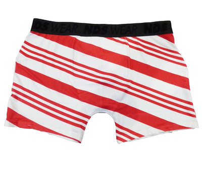 Red Candy Cane Boxer Brief Single Side All Over Print