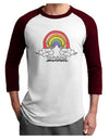 RAINBROS  Adult Raglan Shirt White Cardinal 3XL Tooloud