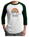 RAINBROS  Adult Raglan Shirt White Forest 3XL Tooloud