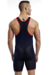Go Softwear Action Mesh Deep Neck Wrestler