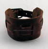 Adjustable Brown Leather Wrist Cuff