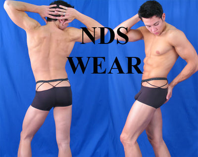 NDS Wear Black String Biker Short