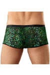 Animal Print Burnout Velvet Snake Trunk Underwear