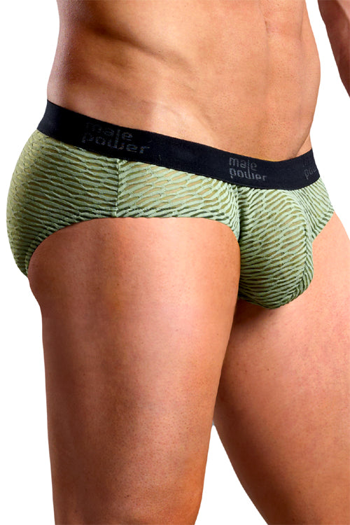 Brazilian Artigo Low-Rise Bikini Brief Underwear - Olive Green -Clearance