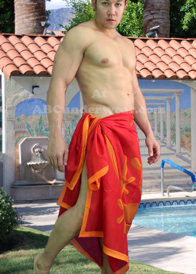 Sheer Red Gecko Sarong