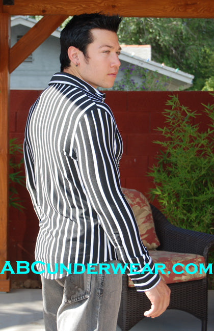 ELEE Black and Grey striped long sleeve shirt -Clearance