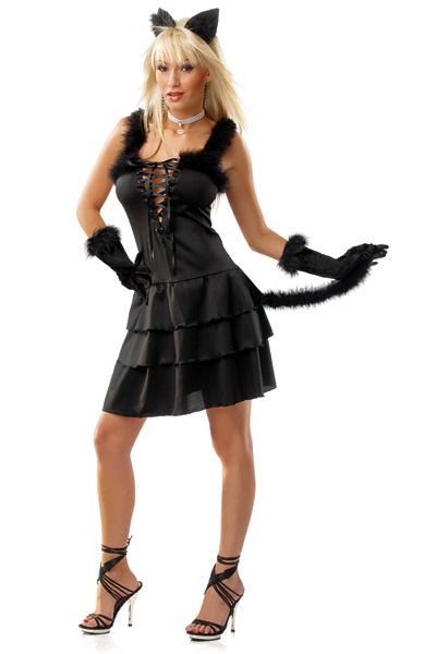 Black Cat Womens Costume - Clearance