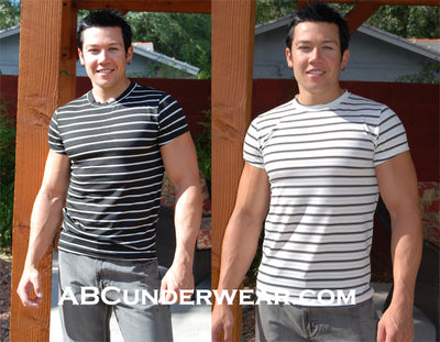 ELEE Stripe T Shirt with Holes
