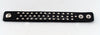 2 Snap Adjustable Black Bracelet with Studs