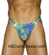 Blue Tahitian Swim Thong