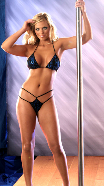 Womens Double Diamond Thong Set - Clearance