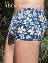 Blue Tropical Short Swimsuit