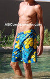 Blue Floral Swim Trunk