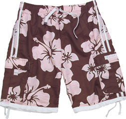 Floral Print Swim Trunk - Men's Board Short
