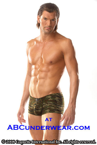 Mens Camo Low Rise Boxer Brief by Zakk - Clearance