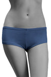 Womens Cotton Spandex Brief Short - Blue