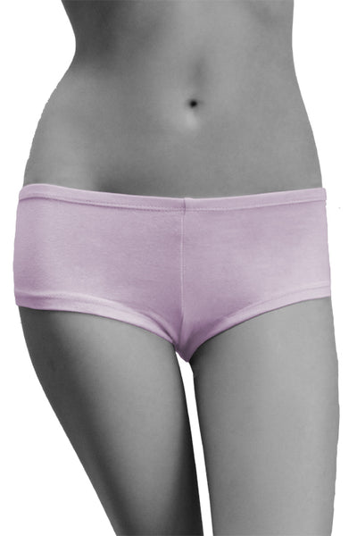 Womens Cotton Spandex Brief Short - Light Lavender Purple