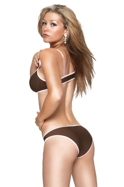 Coquette Microfiber Bikini Top with Full Panty - Clearance